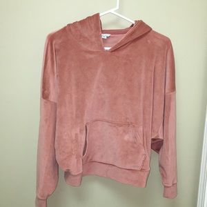 American Eagle cropped velour hoodie